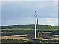 SE4206 : Wind turbine 1 of 3 being erected near Little Houghton by Steve  Fareham