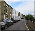 SZ5984 : Long row of parked cars, Station Road,  Sandown by Jaggery