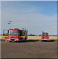 TM3295 : Fire engines at Seething airfield by Evelyn Simak