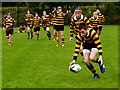H4572 : Grabbing the ball, rugby match, Omagh by Kenneth  Allen
