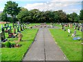 SJ4967 : St Andrew's Church Graveyard by David Dixon