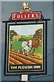 TL0026 : Inn sign, The Plough Inn, Wingfield by Robin Webster