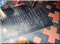 TL5448 : Holy Trinity, Hildersham - Ledger slab by John Salmon