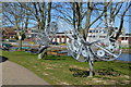 SU8504 : Butterfly Sculptures, Chichester Basin by N Chadwick