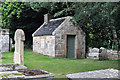 NJ1768 : The watch house at Duffus Old Kirkyard by Walter Baxter