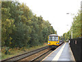 SE2334 : Bramley station with train to Leeds by Stephen Craven