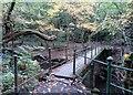 SD7212 : Footbridge over Eagley Brook by Philip Platt