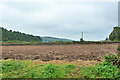 SP8602 : Ploughed field by Robin Webster