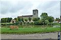 SP7408 : Village pond and church, Haddenham by Robin Webster