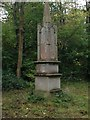 TL1040 : Obelisk in Chicksands Wood by Dave Thompson