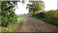 TM2590 : Access road to Airfield Farm by Evelyn Simak
