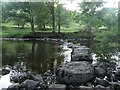 SD9771 : Stepping stones across the River Wharfe by Graham Robson