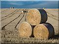 NH6853 : Straw bales, Ballone Farm : Week 44