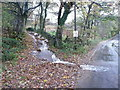 SE0720 : Stream flow on Wood End Lane at Branch Road, Greetland by Humphrey Bolton
