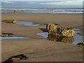 NZ4837 : Rocks on the beach at Crimdon : Week 47