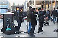 NT2573 : Musicians in Princes Street, Edinburgh by Jim Barton
