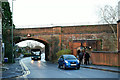 SU9950 : Railway Bridge on Stoke Road, Guildford by Peter Trimming