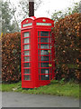 TL3556 : Telephone Box off the B1046 High Street by Adrian Cable