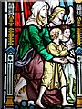 SP3127 : Stained glass window, Chipping Norton church by Philip Halling