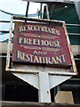 TF4609 : The Blackfriars (Sign) - Public Houses, Inns and Taverns of Wisbech by Richard Humphrey