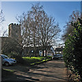 TL4164 : Oakington: High Street in January by John Sutton
