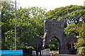 Dist:0.7km<br/>Category B listed gateway and lodges to Lews Castle probably designed by Charles Wilson in mid 19th century, the castle being built 1847-1854. In 1923 Lord Leverhulme gifted Lews Castle and 64,000 acres of land to the people of Stornoway and the Stornoway Trust was established to manage the estate.