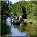 SJ6542 : Narrowboats south of Audlem in Shropshire by Roger  Kidd