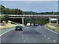 SE3009 : Northbound M1, Bence Lane Bridge near Kexbrough by David Dixon