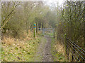TL0428 : Footpath gate, Sundon Hills Country Park by Robin Webster