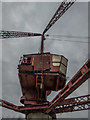 TQ3679 : Dockside Crane near Surrey Docks Farm, Rotherhithe Street, London SE1 by Christine Matthews