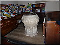 TQ3009 : All Saints, Patcham: font by Basher Eyre