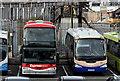 J3373 : Express coaches, Gt Victoria Street bus depot, Belfast (March 2016) by Albert Bridge