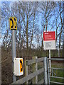TF1707 : User worked level crossing with telephone near Peakirk by Paul Bryan