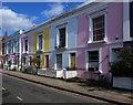 TQ2985 : Housing terrace, Leverton Street, Kentish Town by Julian Osley