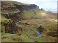 NG4467 : Hairpin on the road from Staffin to Uig : Week 13