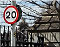 J3374 : 20 mph sign, Exchange Street West, Belfast (March 2016) by Albert Bridge