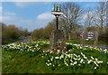 TL1696 : Orton Longueville village sign by Mat Fascione