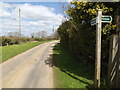 TM1256 : Entrance to Home Farm & footpath to Green Lane Farm by Adrian Cable