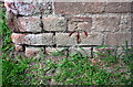 SP4824 : Benchmark on Oxford Canal Bridge 206 by Roger Templeman