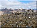 NN0299 : Gairich summit cairn by Richard Law