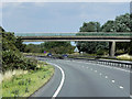 SK8061 : Footbridge over the Northbound A1 at Cromwell by David Dixon