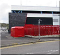 SS7597 : Red electricity substation in Neath  by Jaggery