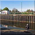 SK5738 : Fishing in the Nottingham Canal by John Sutton
