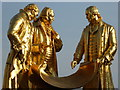 SP0686 : Statues of Matthew Boulton, James Watt and William Murdoch by Philip Halling