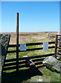 SE0033 : Stile onto the moor at Stairs Lane, Oxenhope by Humphrey Bolton