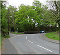 SN7909 : Bend in Station Road, Ystradgynlais by Jaggery