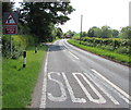 SO5933 : Bend ahead on the B4224 in Oldway, Herefordshire by Jaggery