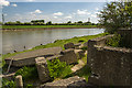 SJ3168 : North Wales WWII defences: Queensferry, River Dee - pillbox remains SJ3196 6876  (1) by Mike Searle
