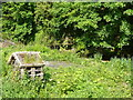 SE0426 : Wildlife area with bug hotel, Luddenden by Humphrey Bolton