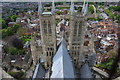 SK9771 : Lincoln Cathedral towers and roof : Week 22